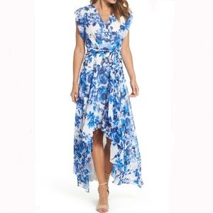 Eliza J   Floral Ruffle Hi Lo Maxi dress